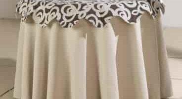 Decoracion de una mesita camilla redonda