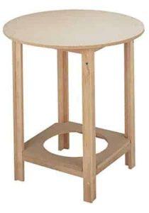mesa camilla completa de madera bien construida más tarima de brasero