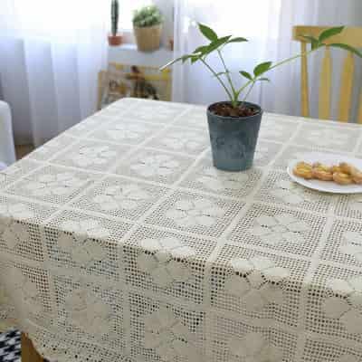 Manteles rectangulares de Encaje de Ganchillo Bakeriest 24 x 200 cm