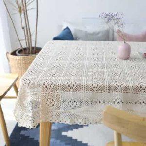 Crochet con algodón, varias dimensiones, Mantel de ganchillo medidas rectangulas