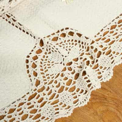 Mantel de ganchillo artesanal patrón clasico
