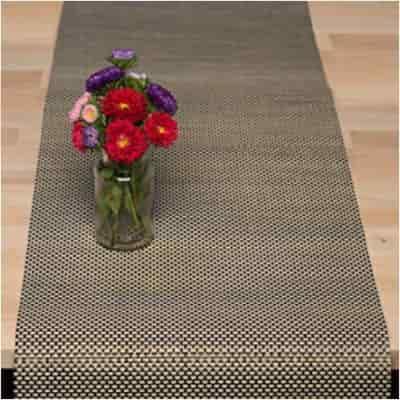 camino de mesa de malla lavvable para decoraciones especiales