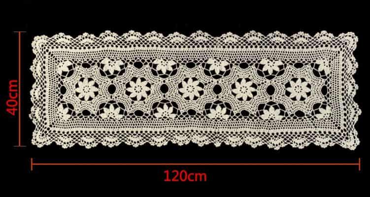 camino de mesa de ganchillo a crochet