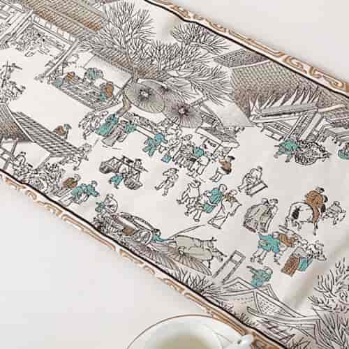 comprar camino de mesa con motivos orientales bordados