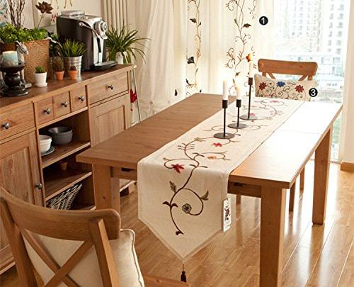 camino de mesa bordado sencillo