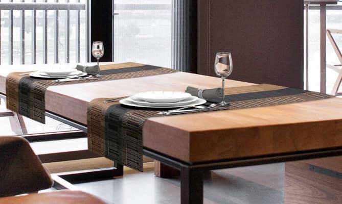 idea para decorar con un caminos de mesa de bambú
