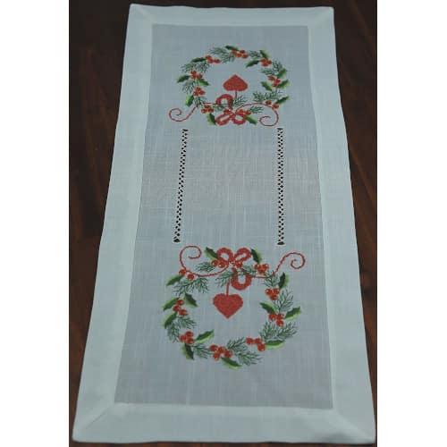 camino de mesa bordado para navidades