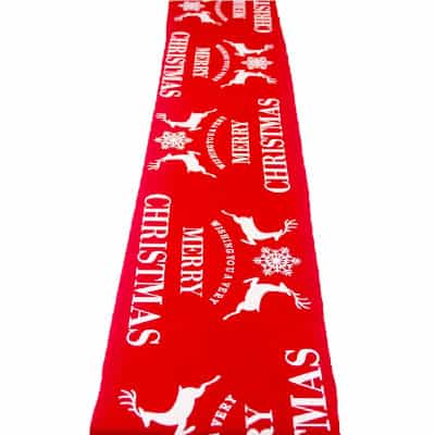 camino de mesa rojo para christmas navida