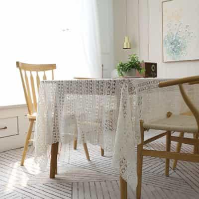 tienda de venta de tapetes bonitos patrones, manteles de ganchillo, tapetes rectangulares a crochet