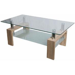 mesa de centro rectangular de cristal barata