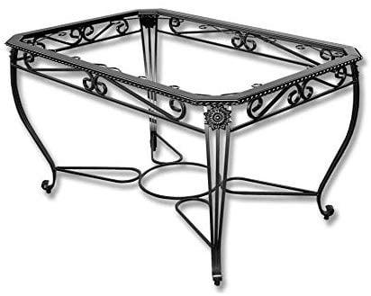 Diseño clasico, Mesa camilla de forja rustica