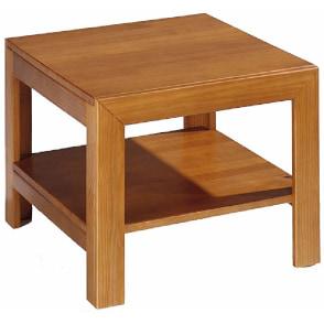 mesa centro auxiliar madera maciza pino color cerezo