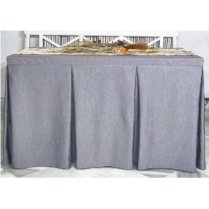 Faldas con fuelles para mesas camilla confeccionadas con tela otoman