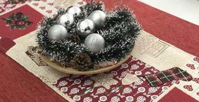 Manteles largos de navidad para mesa navideña