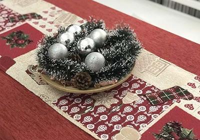 camino de mesa navideño para vestir la mesa camilla en navidad