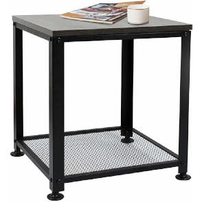 mesa de centro barata industrial de hierro