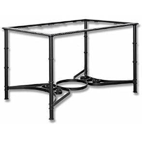 mesa de camilla de metal forjado