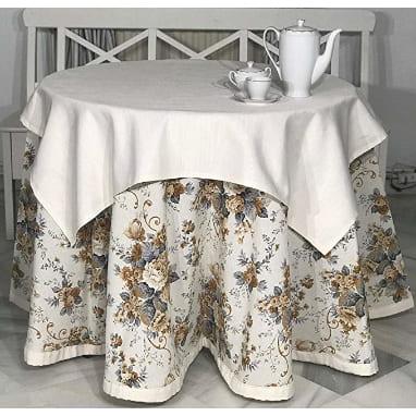 las mejores faldas para mesa camilla redonda de la firma INUSUAL