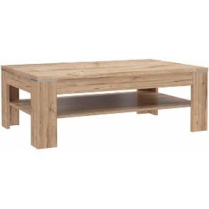 mesita auxiliar en madera de roble maciza natural