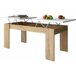 mesa de centro elevable de diseño lateral de doble elevacion