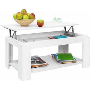 mesa de centro rectangular elevable moderna