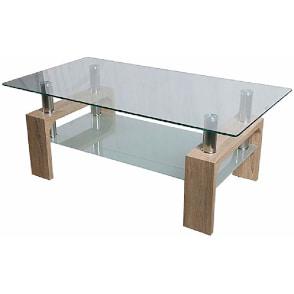 mesa de centro de cristal barata y moderna