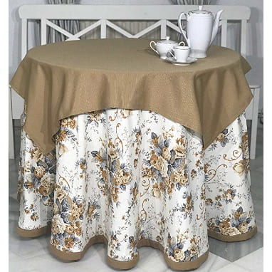 falda para mesa camilla hecha a mano de forma artesanal