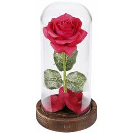 centro de mesa de flor rosa luminosa