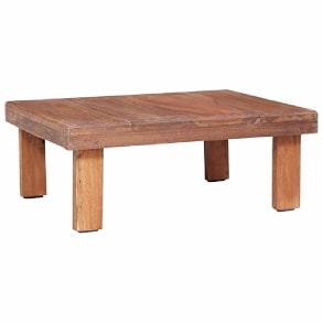 mesa de centro auxiliar de madera reciclada