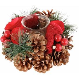 centro de mesa para celebrar la navidad
