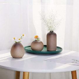 centro de mesa de cerámica antigua para embellecer el hogar