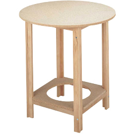 mesa camilla redonda barata con estructura reforzada