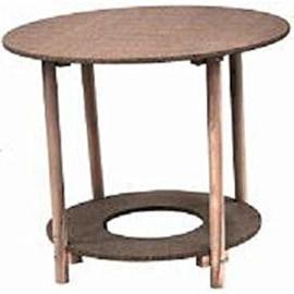 comprar mesa camilla con tarima para brasero redonda