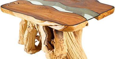 mesa de tronco maciza