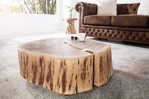 mesa centro tronco grande de acacia puliza