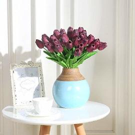 Flores artificiales realistas criativas para centros de mesa