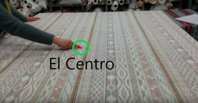 09 - extender la tela para colocar el patrón y sacar medidas en la tela de la enagua camilla