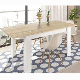 mesas de comedor modernas blancas y madera