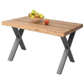 mesa comedor madera y hierro de diseño industrial para el salon comedor.