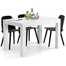 Mesa extensible de comedor lacada con sobre brillante minimalista