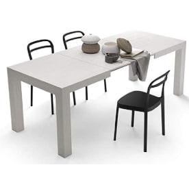 mesa de diseño italiano de lineas modernas extensible