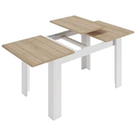mesa comedor libro madera. mesa extensible de madera para el comedor.