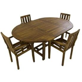 mesa de comedor para el jardín y la terraza de madera natural