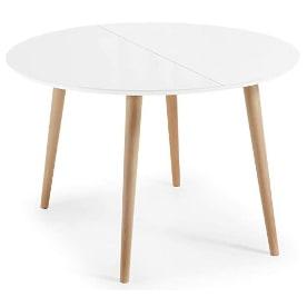 mesa comedor redonda extensible blanca. mesa comedor redonda extensible madera blanca: mesa redonda extensible estilo nordico.