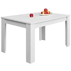 mesas de comedor modernas extensibles blancas para el hogar