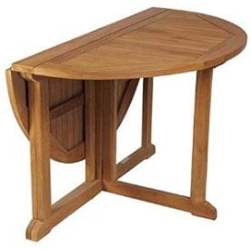 mesa de jardin extensible plegable de madera de teca maciza