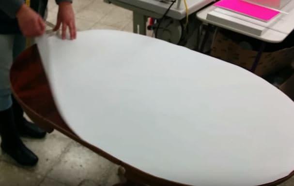 03 - recortar el patrón para hacer una falda o mantel de mesa ovalada