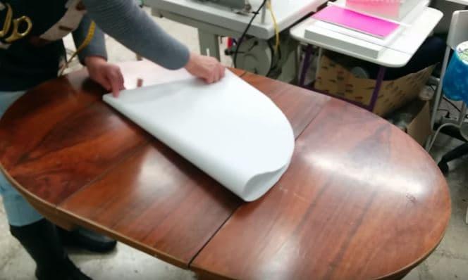 05 - sacar el centro del patron para hacer una falda de mesa ovalada