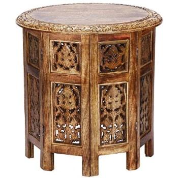 mesa velador plegable oriental