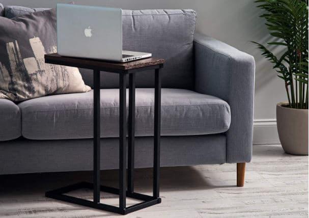 mesa auxiliar para el lateral del sofá